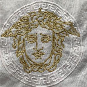 vtg VERSACE JEANS COUTURE vest S M Medusa back